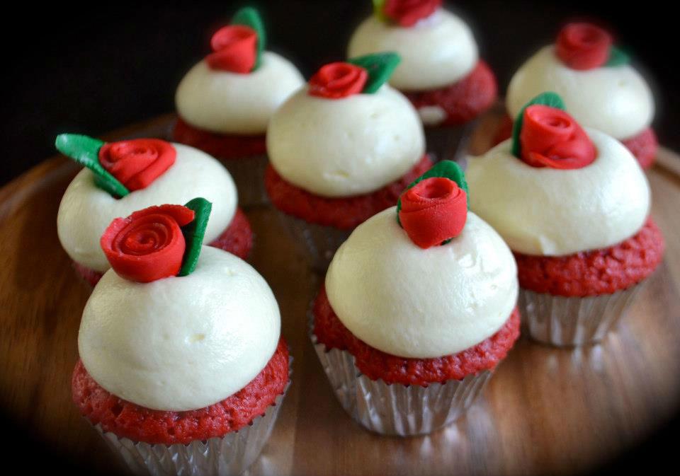 Crupcake de terciopelo rojo
