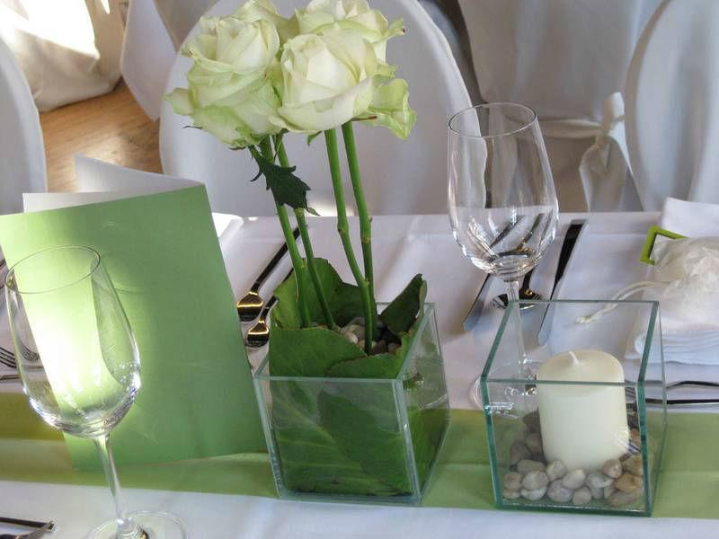 Beispiel: Tischdekoration, Foto: Restaurant Landgasthof Bogner.
