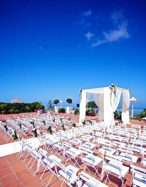 Roof terrace wedding ceremony