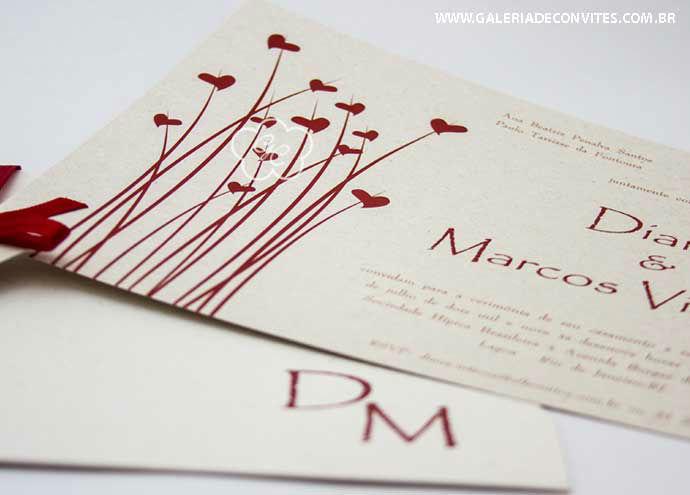 convite de casamento modelo 26 eco