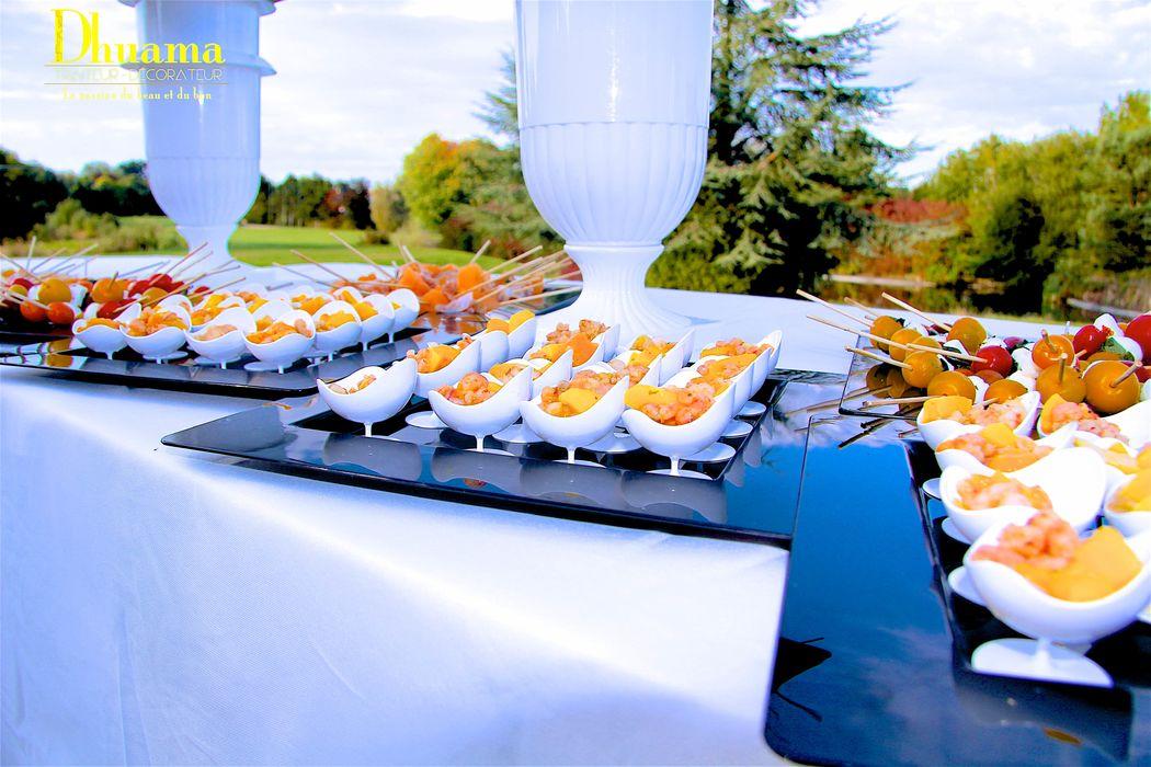 Buffet vin d'honneur / Dhuama traiteur africain
