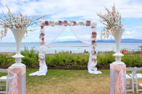 Backdrop floral con tela