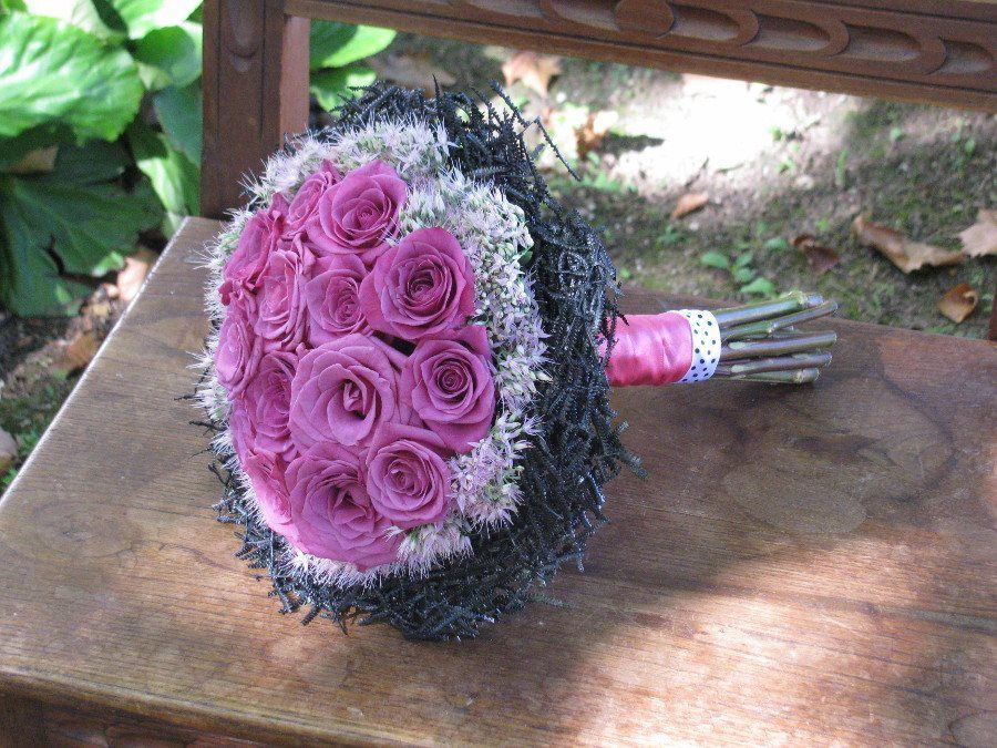 Bouquet de Noiva preto e rosa