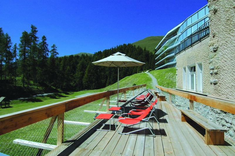 Beispiel: Sonnenterasse, Foto: Hotel Castell.