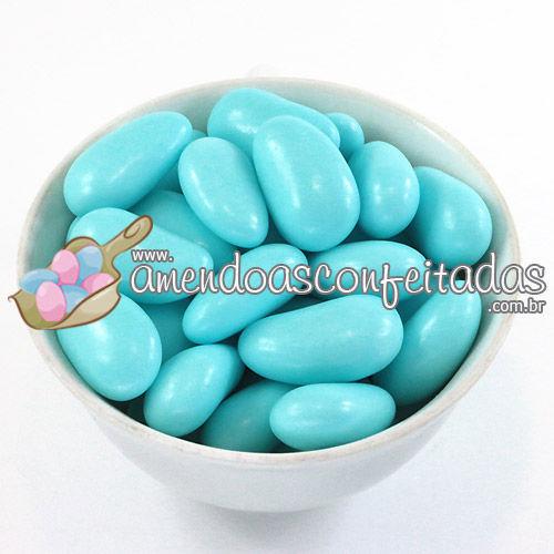 Amêndoas Confeitadas Azul Supreme - Ideal para decoração de doces e mesas temáticas.