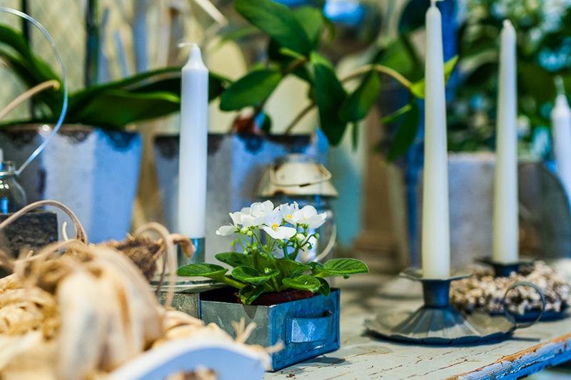 Beispiel: Tischdekoration, Foto: in blüte.