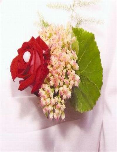 Beispiel: Blumenanstecker, Foto: Antjes Floristik Atelier.
