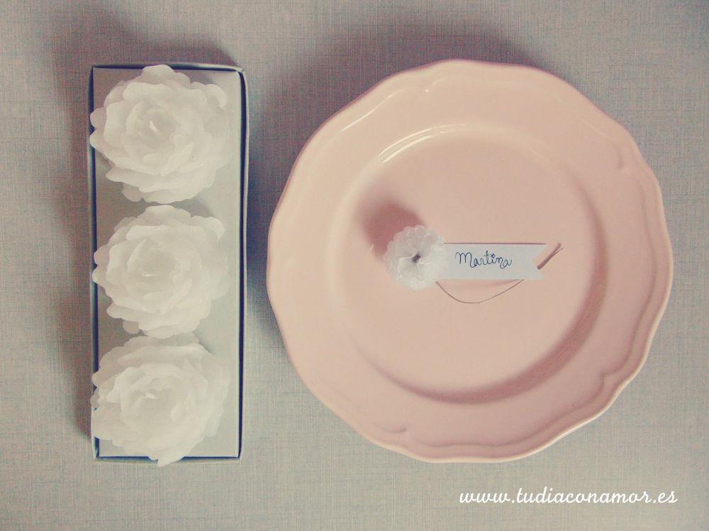 Meseros con nombres de los invitados