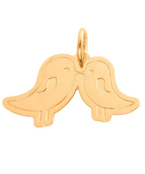 Pingente casal passarinhos para aplique em bem-casados e convites.