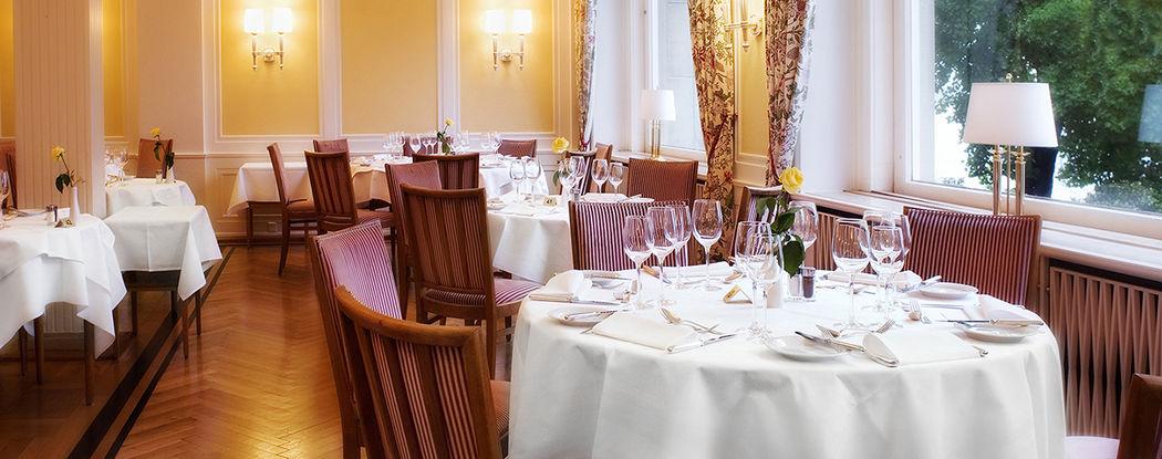 Beispiel: Restaurant Seeblick, Foto: Hotel Bad Schachen.