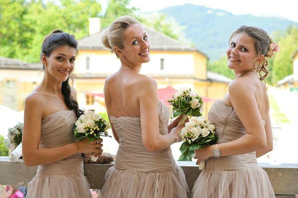 Beispiel: Brautjungfern, Foto: Hochzeitsorganisation Barbara Donabauer.