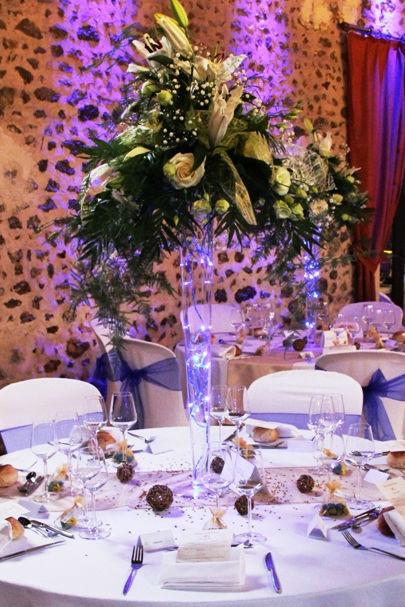 Fée de l'effet - Décoration de table bleue Or fleurie