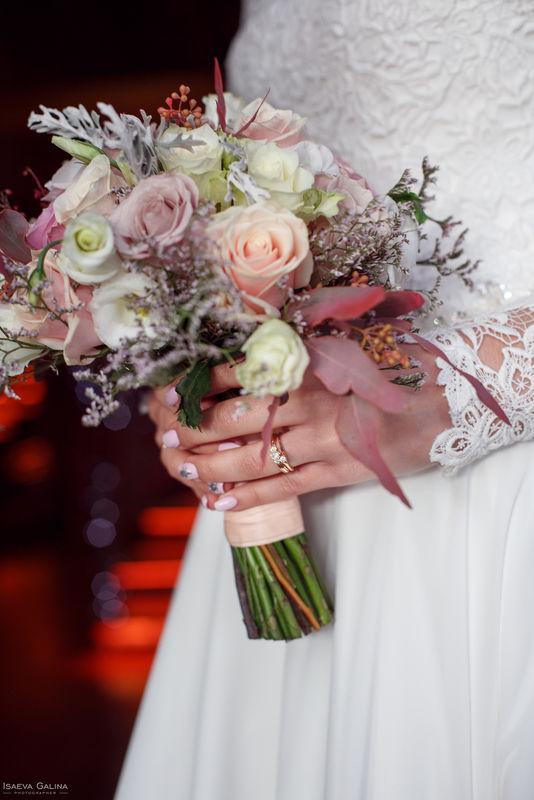 Букет невесты, нежный букет невесты