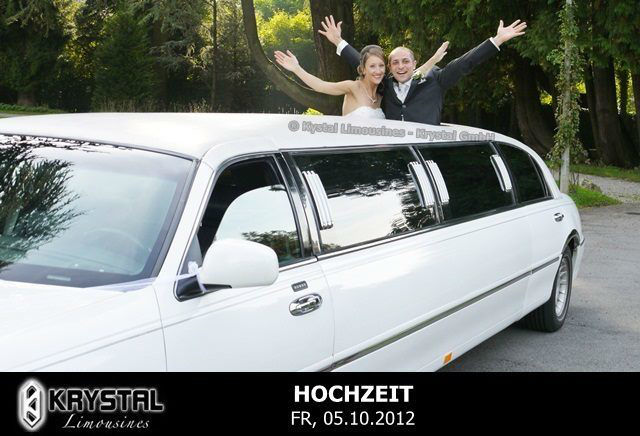 Beispiel: Die Limousine für Ihren Hochzeitstag, Foto: Krystal Limousines.