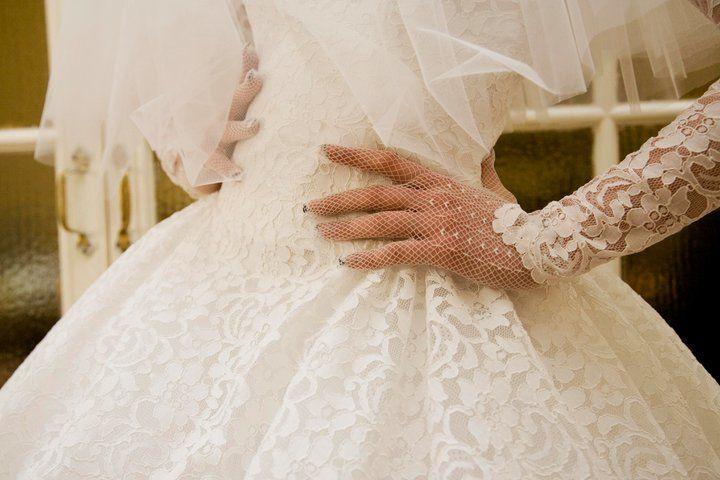 Sfilata di abiti da sposa d'epoca.  La sposa anni '50. Realizzata da Yes wedding planner