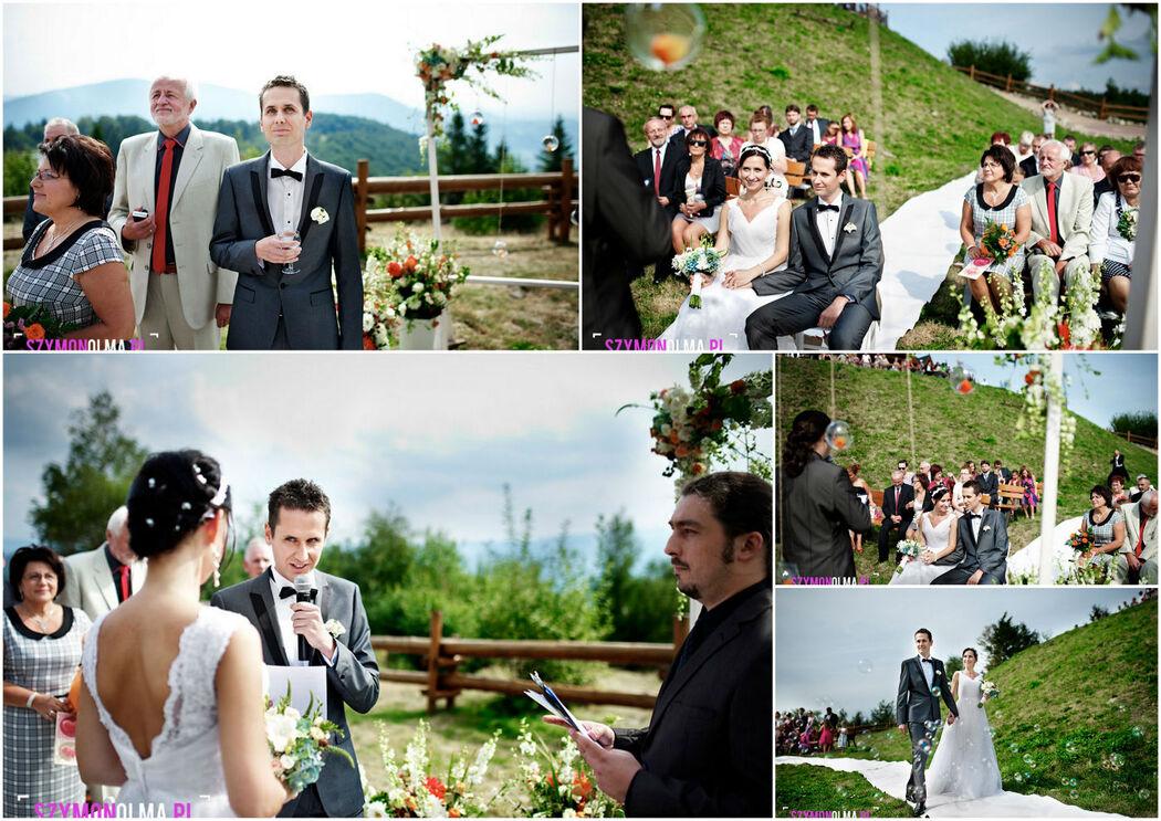 ślub w Utsroniu w plenerze