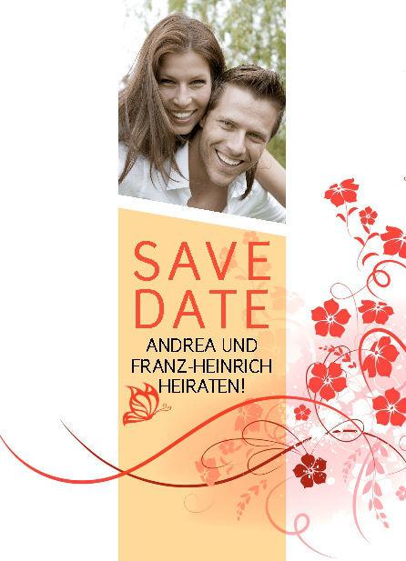 Beispiel: Save the Date Karte, Beispiel: Thomas Cards.