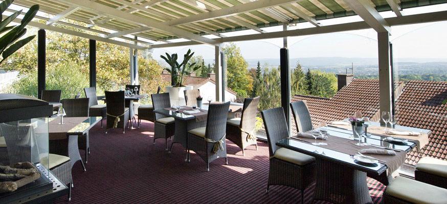 Beispiel: Terrasse, Foto: Zum Steinernen Schweinchen.