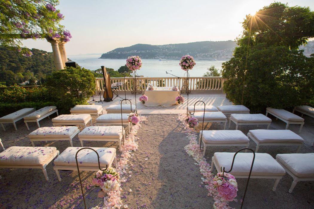 Cérémonie de mariage  Villa Ephrussi de Rothschild
