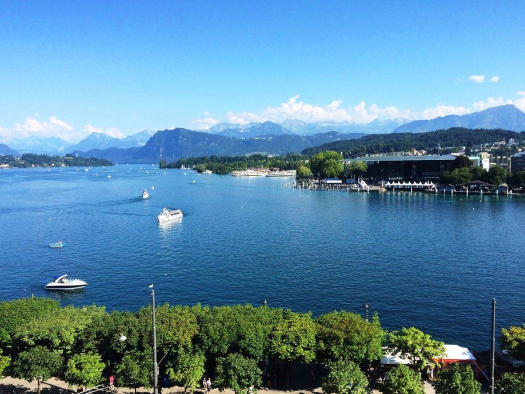 Aussicht Foto: Hotel Schweizerhof Luzern