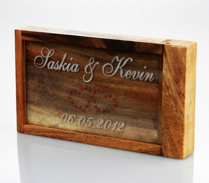 Beispiel: Magische Geldgeschenkbox mit Gravur