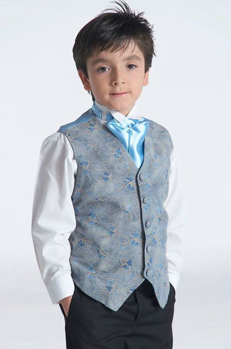 Pajecito con corbata azul