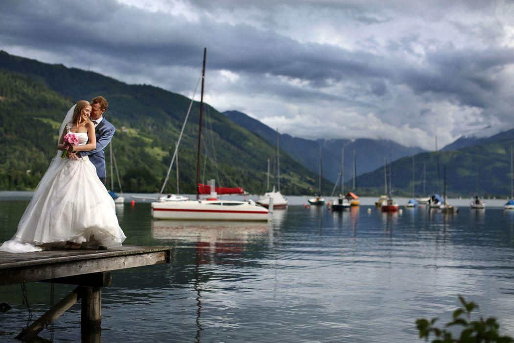 Privatstrand am Zeller See