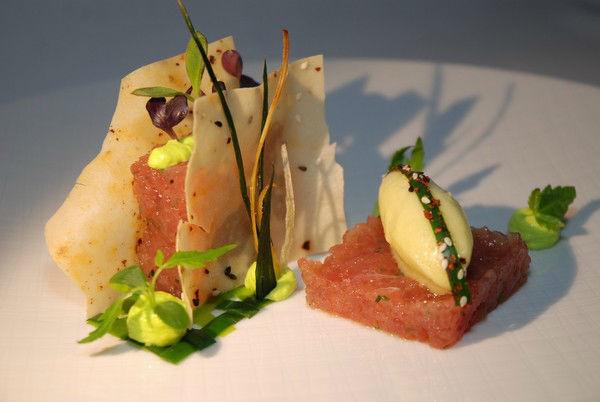 Beispiel:Serviervorschlag, Foto: Magnolia - Restaurant im Glaspalast.