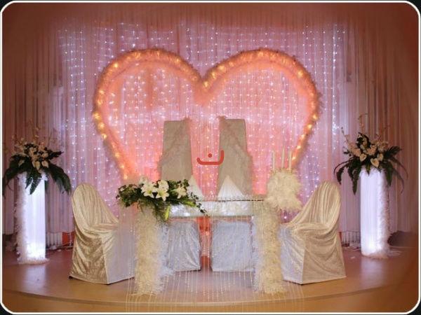 Beispiel: Brauttisch, Foto: Yildiz Dekor.