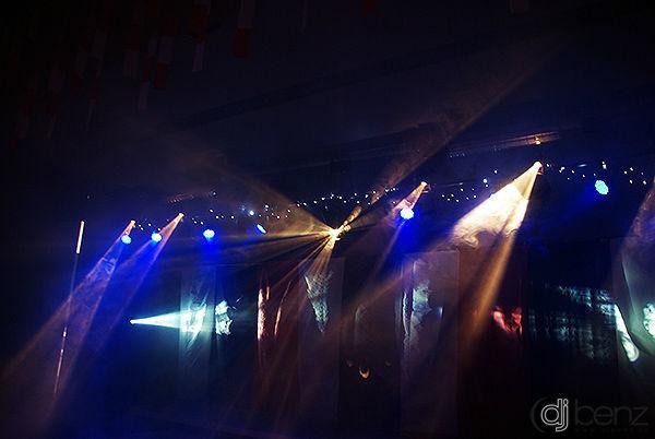 Beispiel: Lichteffekte, Foto: DJ Benz.