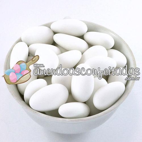 Amêndoas Confeitadas Branca Deluxe - Ideal para Casamentos.