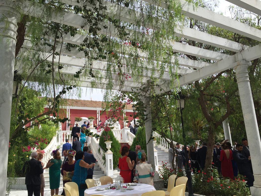Patio Salón Azahar. Hacienda Azahares