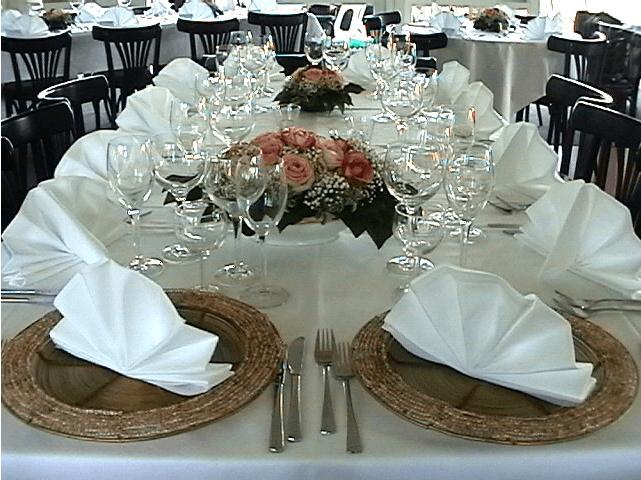 Beispiel: Tischdekoration, Foto: Restaurant Höhencafé Killesberg.