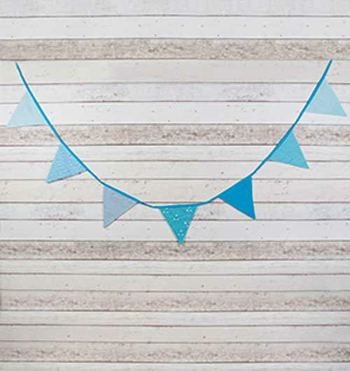 Banderines Tela Azul