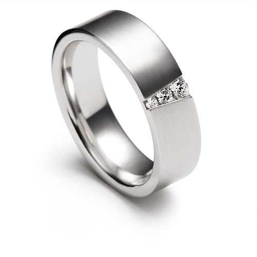 AM46 Aros de matrimonio con diamantes. Hechos a medida en oro blanco o amarillo 18K.