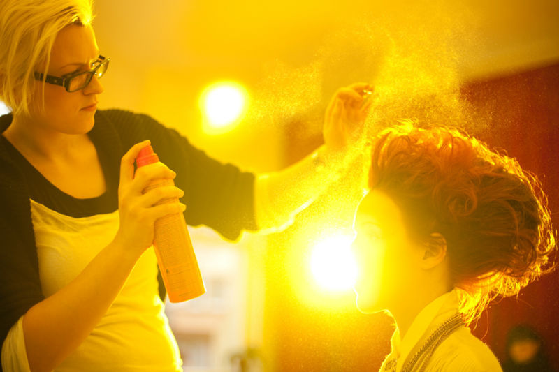 Beispiel: Hairstyling, Foto: Kat make-up.
