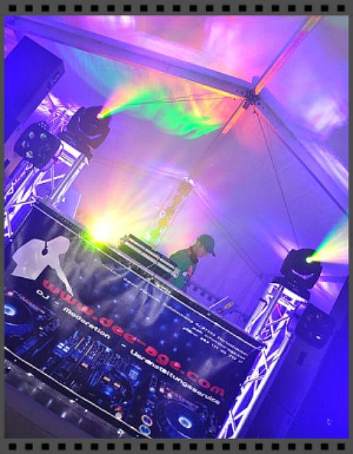 Beispiel: Ton- und Lichttechnik, Foto: DJ Mr. Dee Age.