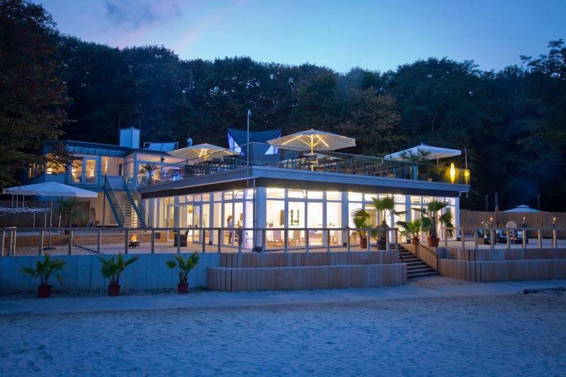 Beispiel: Restaurant bei Nacht, Foto: Seepavillon.