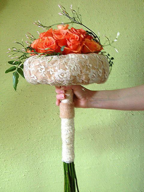 Beispiel: Brautstrauß, Foto: Wilheine Blumenbindekunst.