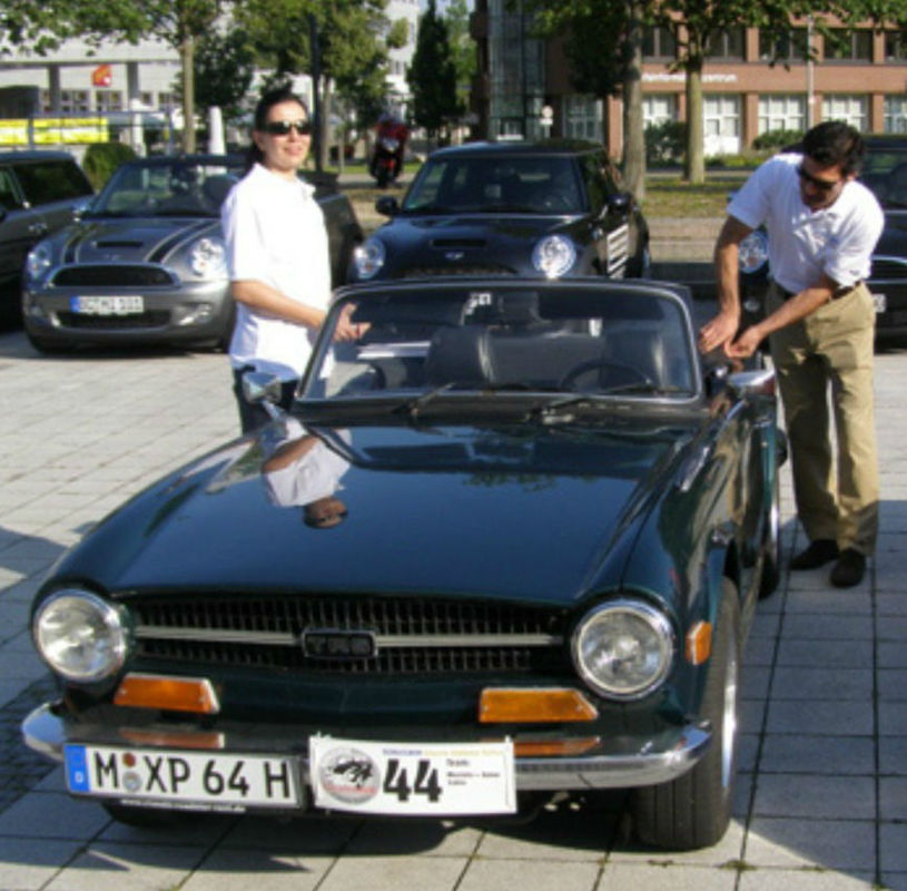 Oldtimer zum Selberfahren: Triumph TR 6 Foto: Classic Roadster München