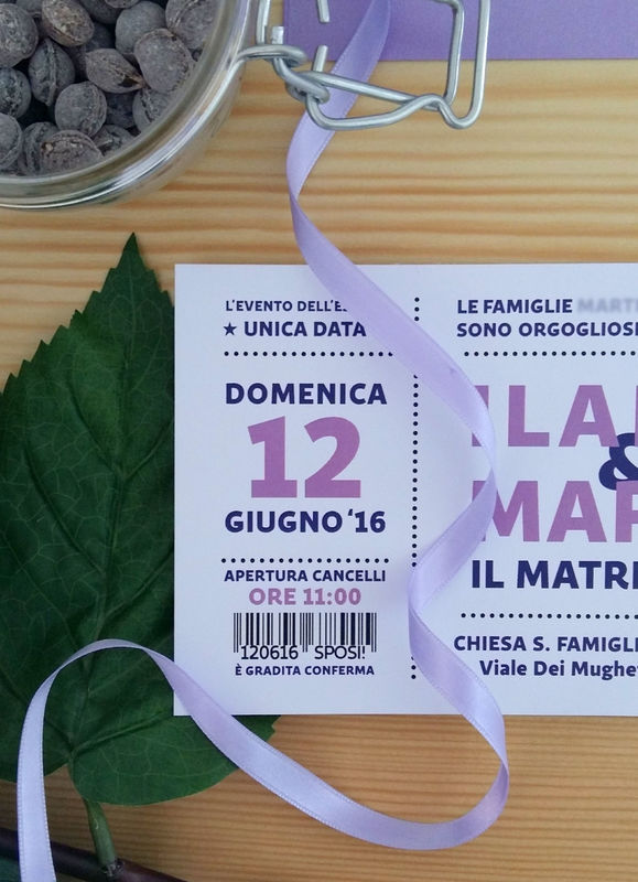 Ilaria & Marco, 12 giugno 2016. Partecipazioni in stile