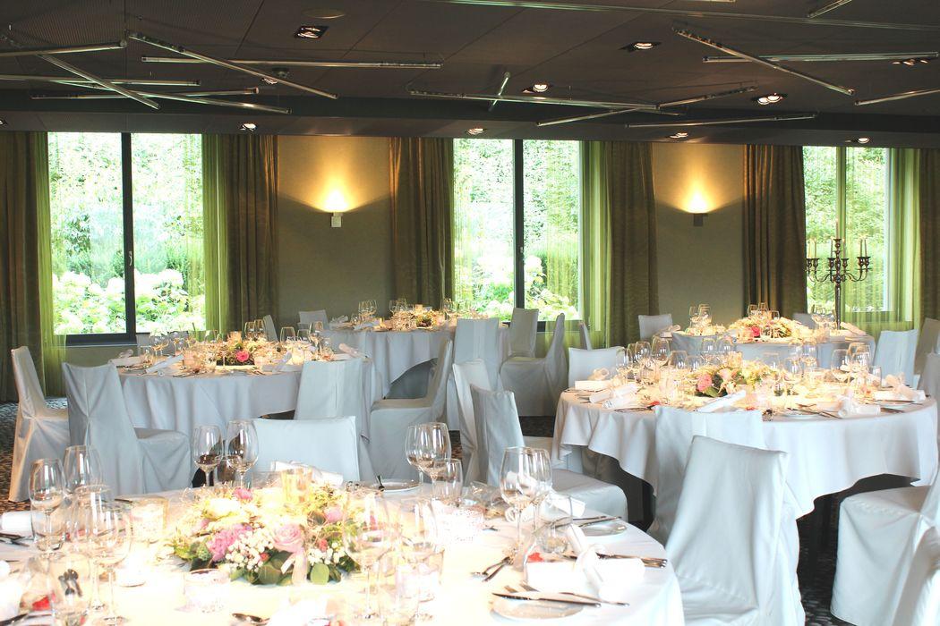 Loftartiger Sala «Uno & Due» ideal für grössere Hochzeiten bis 150 Gäste, Foto: Hotel Bad Bubendorf.