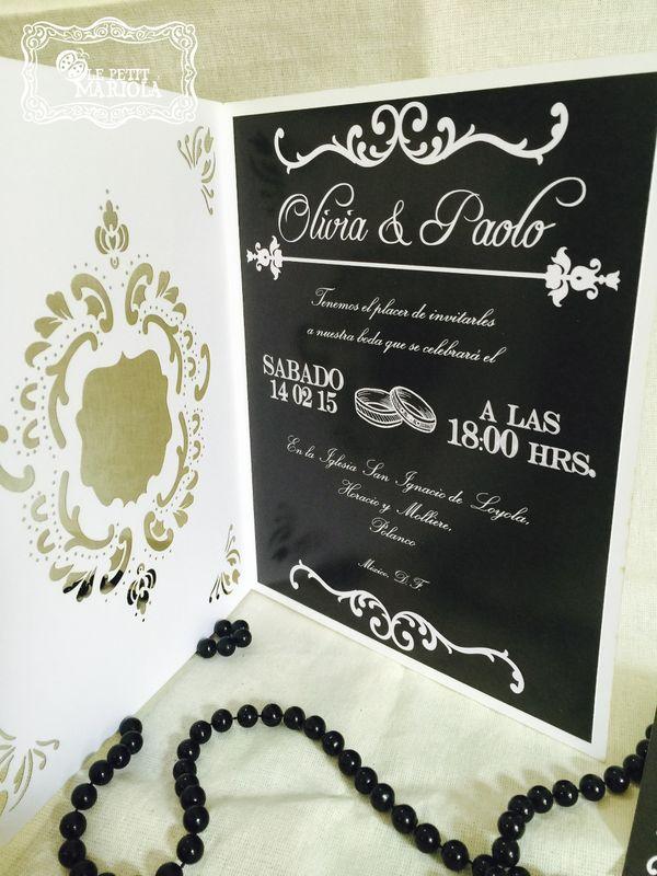 Invitación corte laser mod. Olivia y Paolo