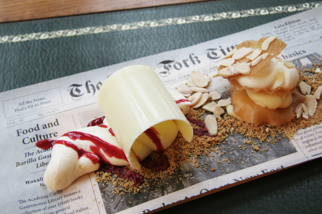 Cheesecake y mini tarta árabe