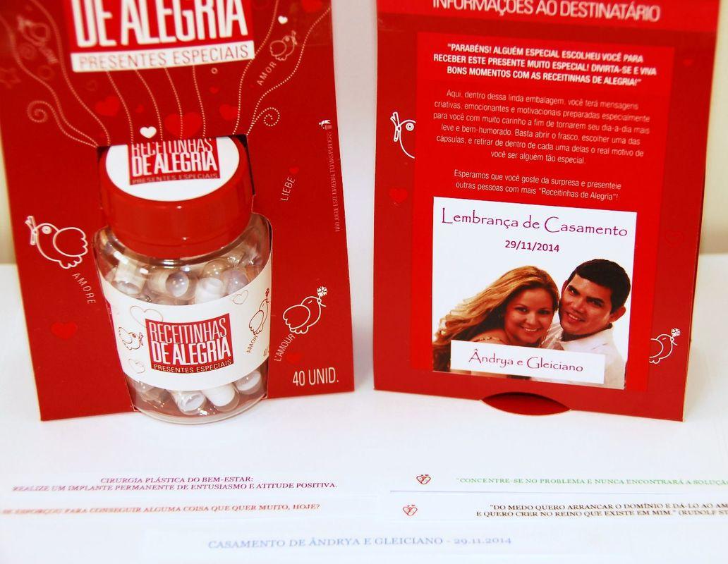 Receitinhas de Alegria - Prod. Original Completo - Tema Amor (com TAG personalizada)