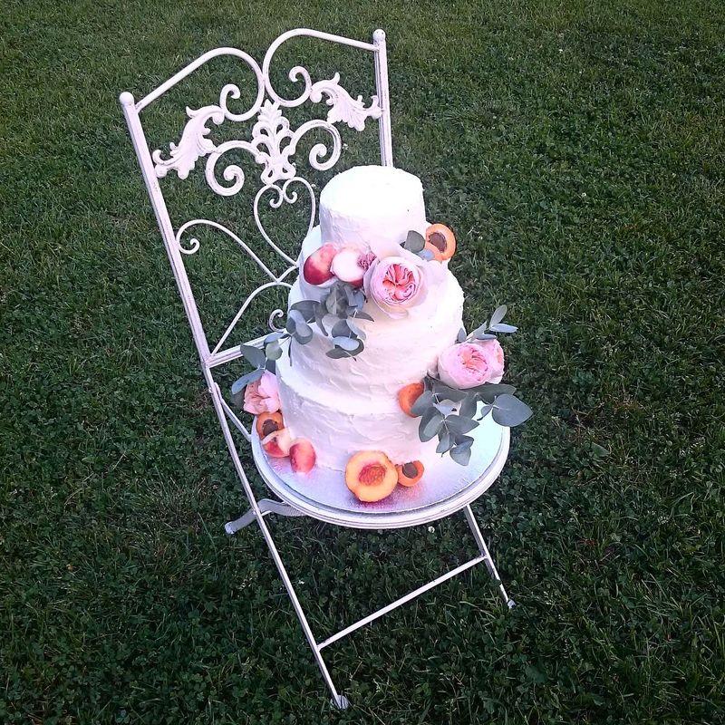 Свадебный торт, 12 кг, 4 яруса.