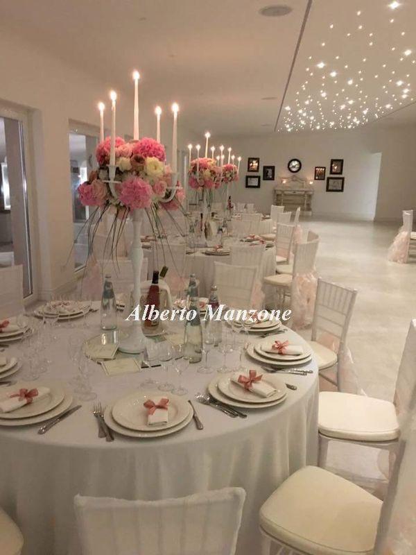 centro tavolo con candelabro