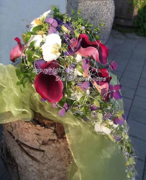 Beispiel: Individuelle Brautsträuße, Foto: Die Blumenoase.