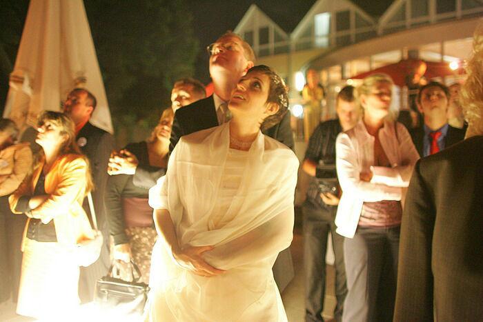 Beispiel: Feuerwerk - Highlight Ihrer Hochzeitsfeier, Foto: Dämeritz Seehotel.