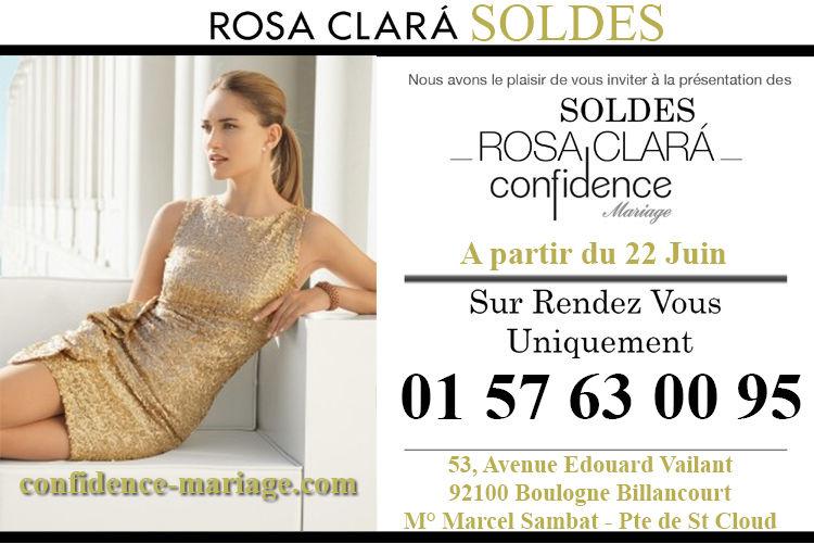 Soldes sur nos robes Rosa Clará. Juqu'à -30% dans notre showroom